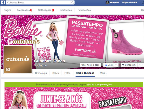 Facebook App Barbie Cubanas