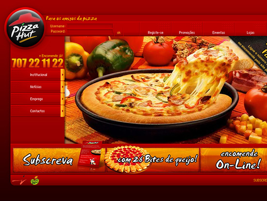 PizzaHut Website