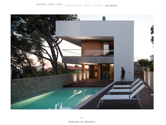 Antonio Costa Lima Arquitectos Website