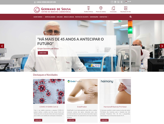 Website Institucional  Grupo Germano de Sousa